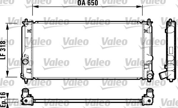 Radiateur, refroidissement du moteur - VALEO - 732413
