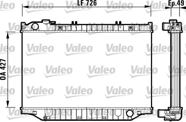Radiateur, refroidissement du moteur - VALEO - 732415