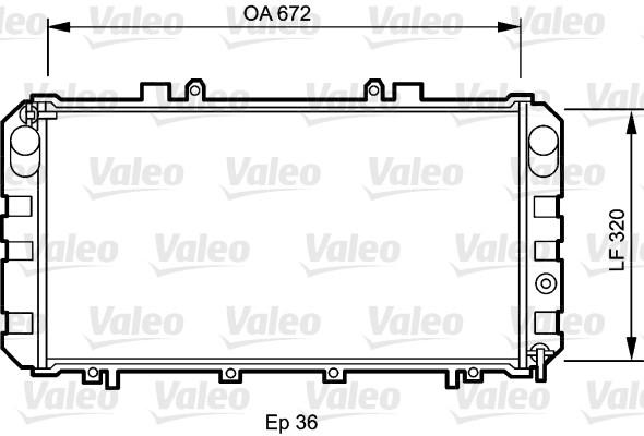 Radiateur, refroidissement du moteur - VALEO - 732416