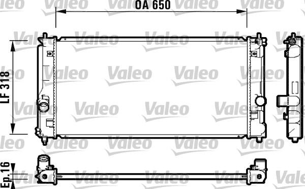 Radiateur, refroidissement du moteur - VALEO - 732417