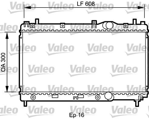 Radiateur, refroidissement du moteur - VALEO - 732426