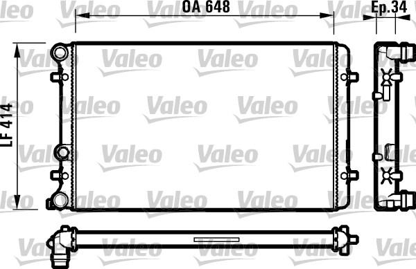 Radiateur, refroidissement du moteur - VALEO - 732427