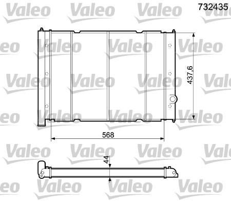 Radiateur, refroidissement du moteur - VALEO - 732435