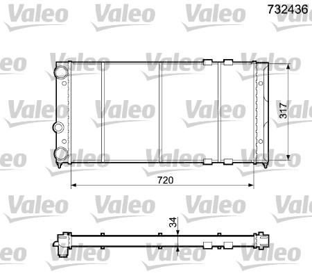 Radiateur, refroidissement du moteur - VALEO - 732436