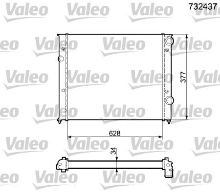 Radiateur, refroidissement du moteur - VALEO - 732437