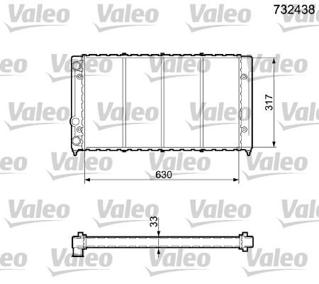 Radiateur, refroidissement du moteur - VALEO - 732438
