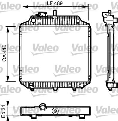 Radiateur, refroidissement du moteur - VALEO - 732442