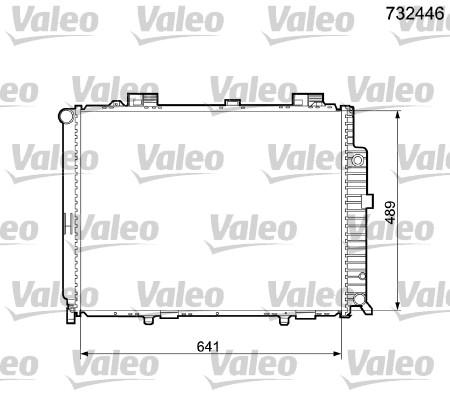 Radiateur, refroidissement du moteur - VALEO - 732446