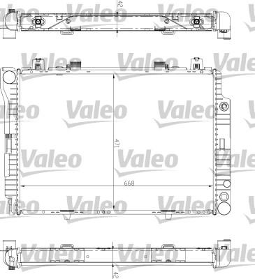Radiateur, refroidissement du moteur - VALEO - 732447