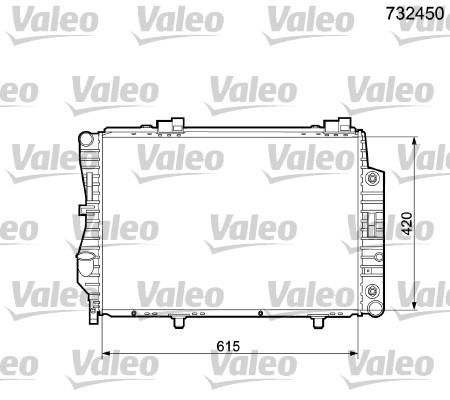 Radiateur, refroidissement du moteur - VALEO - 732450