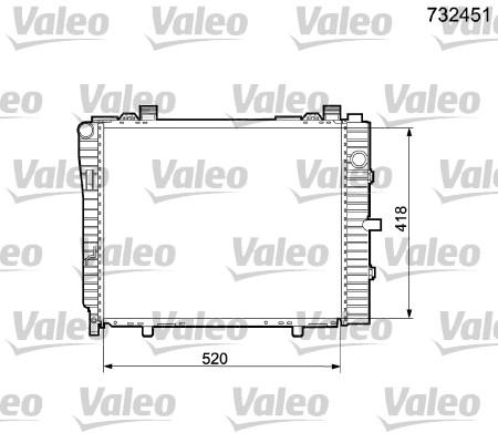 Radiateur, refroidissement du moteur - VALEO - 732451