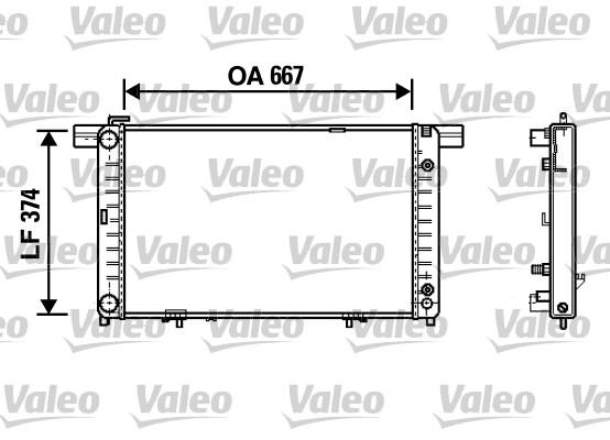 Radiateur, refroidissement du moteur - VALEO - 732454
