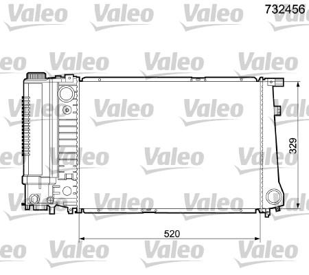 Radiateur, refroidissement du moteur - VALEO - 732456