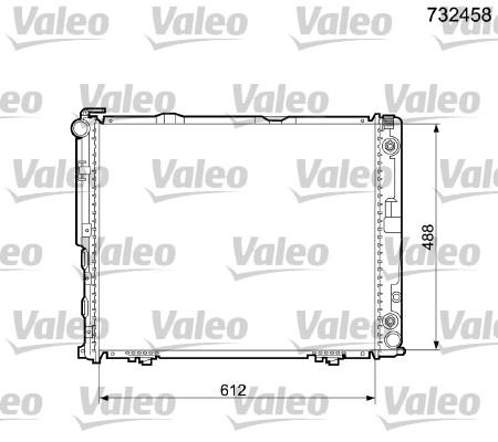 Radiateur, refroidissement du moteur - VALEO - 732458