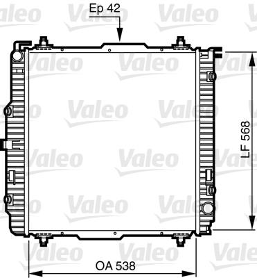 Radiateur, refroidissement du moteur - VALEO - 732459