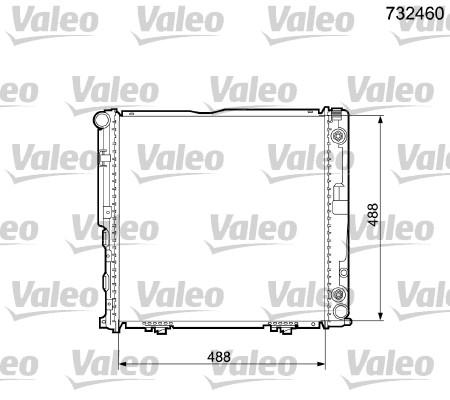 Radiateur, refroidissement du moteur - VALEO - 732460