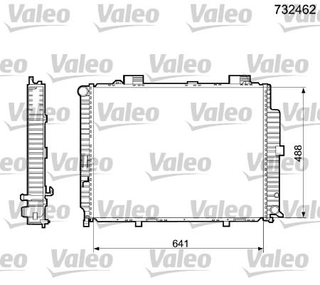 Radiateur, refroidissement du moteur - VALEO - 732462