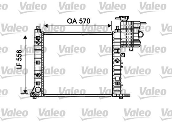 Radiateur, refroidissement du moteur - VALEO - 732471
