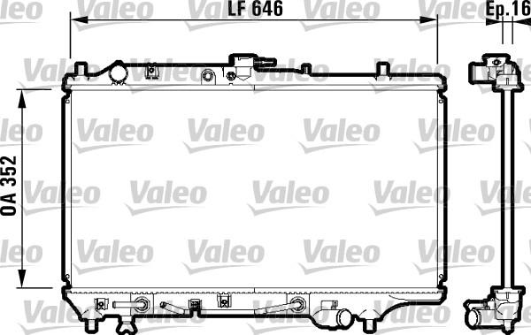 Radiateur, refroidissement du moteur - VALEO - 732475