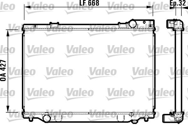 Radiateur, refroidissement du moteur - VALEO - 732476