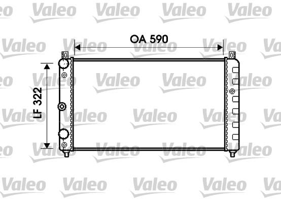 Radiateur, refroidissement du moteur - VALEO - 732479