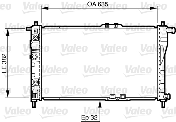 Radiateur, refroidissement du moteur - VALEO - 732483