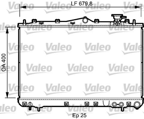 Radiateur, refroidissement du moteur - VALEO - 732487