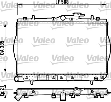 Radiateur, refroidissement du moteur - VALEO - 732488