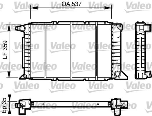 Radiateur, refroidissement du moteur - VALEO - 732497