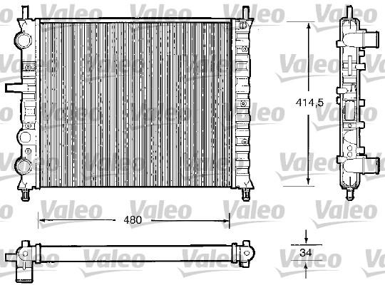 Radiateur, refroidissement du moteur - VALEO - 732503