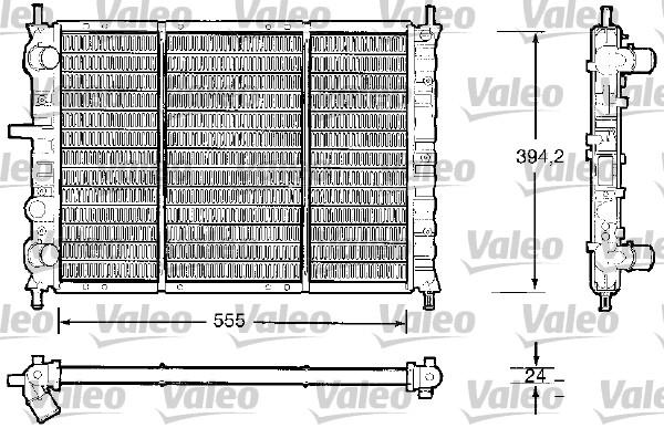 Radiateur, refroidissement du moteur - VALEO - 732504