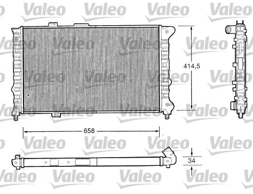 Radiateur, refroidissement du moteur - VALEO - 732505