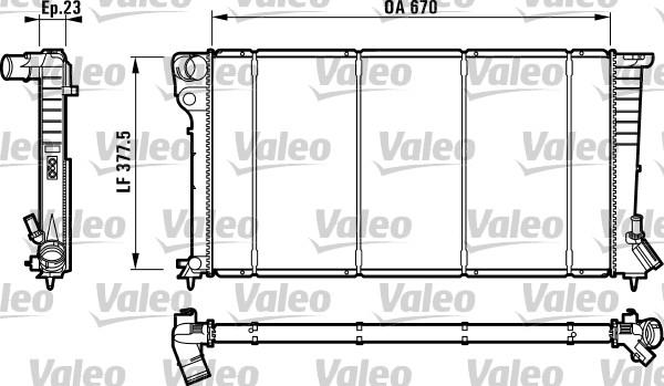 Radiateur, refroidissement du moteur - VALEO - 732517