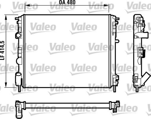 Radiateur, refroidissement du moteur - VALEO - 732523