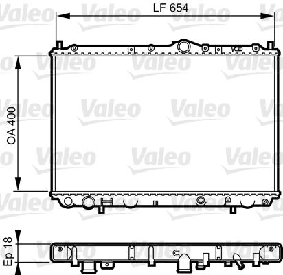 Radiateur, refroidissement du moteur - VALEO - 732524