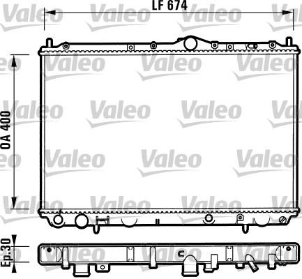 Radiateur, refroidissement du moteur - VALEO - 732525