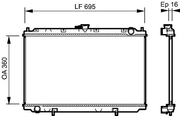 Radiateur, refroidissement du moteur - VALEO - 732528