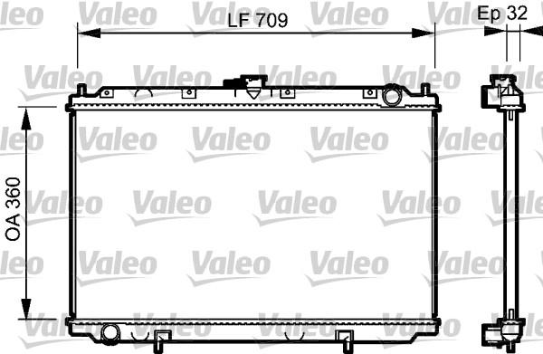 Radiateur, refroidissement du moteur - VALEO - 732529