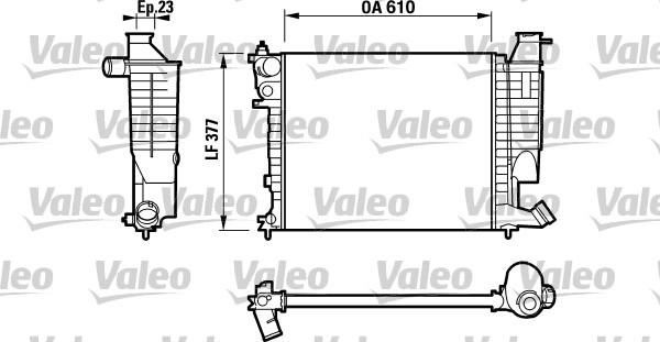 Radiateur, refroidissement du moteur - VALEO - 732535