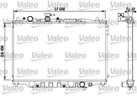 Radiateur, refroidissement du moteur - VALEO - 732538