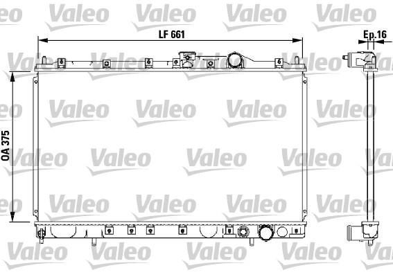 Radiateur, refroidissement du moteur - VALEO - 732539