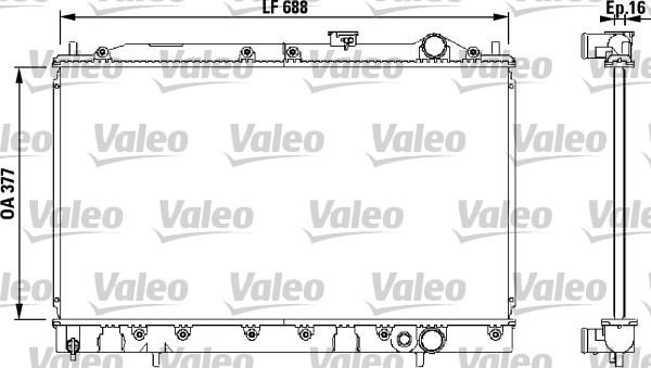 Radiateur, refroidissement du moteur - VALEO - 732540