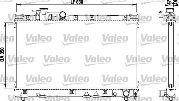 Radiateur, refroidissement du moteur - VALEO - 732542
