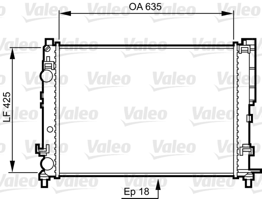 Radiateur, refroidissement du moteur - VALEO - 732544