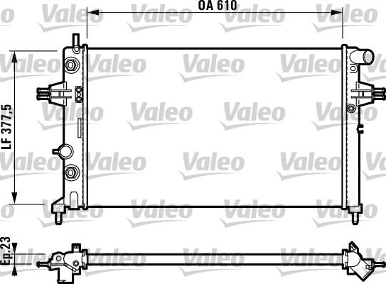 Radiateur, refroidissement du moteur - VALEO - 732549