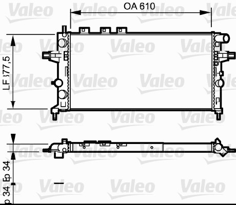 Radiateur, refroidissement du moteur - VALEO - 732550