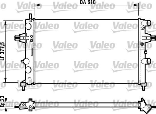 Radiateur, refroidissement du moteur - VALEO - 732551