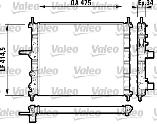 Radiateur, refroidissement du moteur - VALEO - 732557