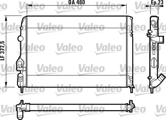 Radiateur, refroidissement du moteur - VALEO - 732559