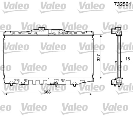 Radiateur, refroidissement du moteur - VALEO - 732561